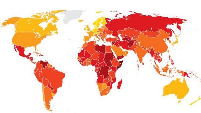 وضعیت ایران در ردهبندی سازمان شفافیت بین الملل قرمز است